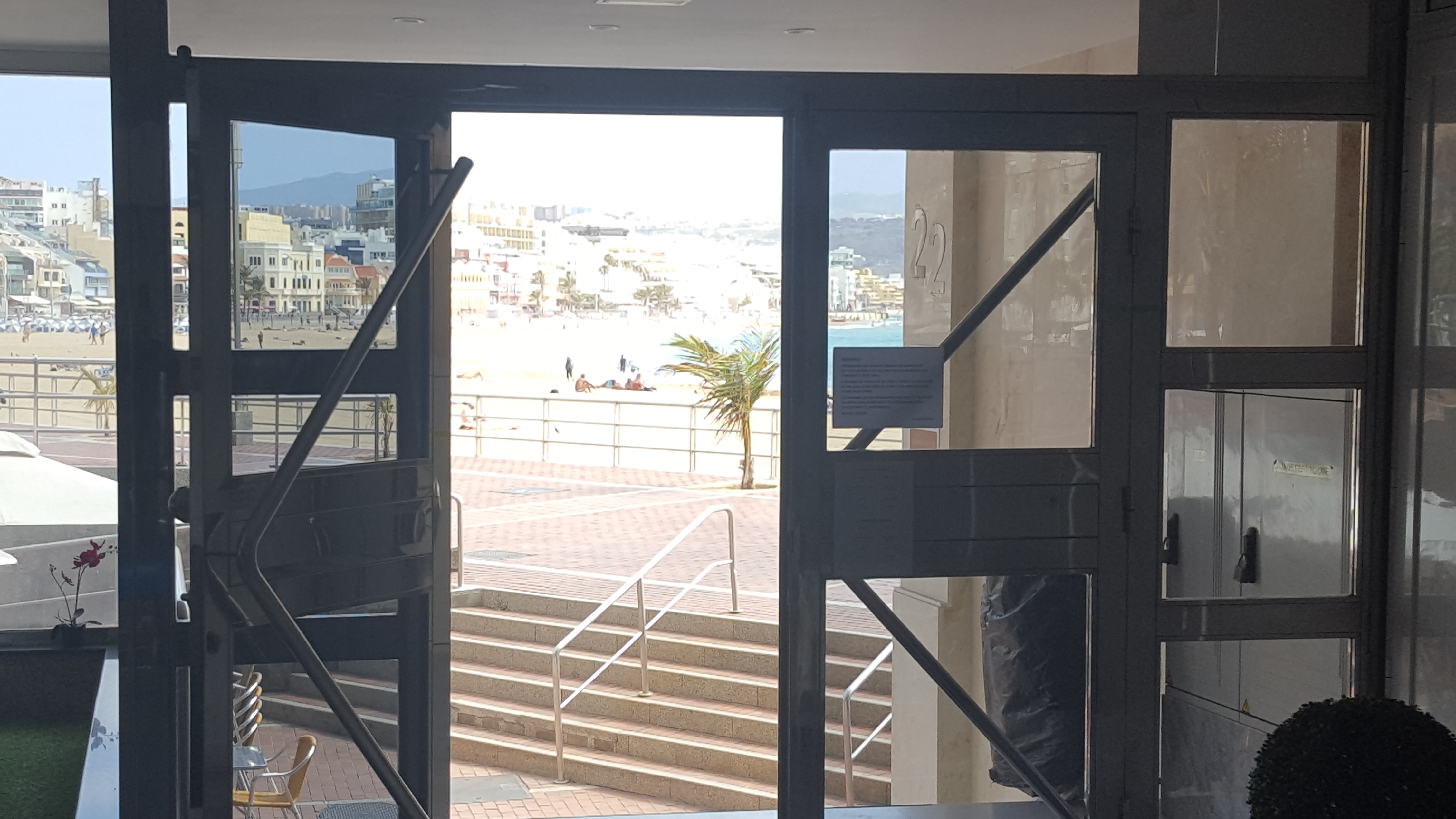 Salida del edificio