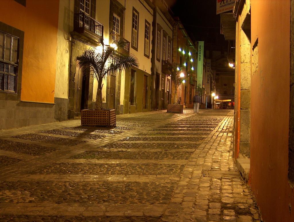 Barrio de Vegueta de noche